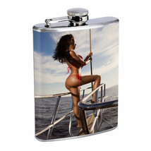 Bali Pin Up Girls D3 Flask 8oz Stainless Steel Hip Drinking Whiskey - $12.82