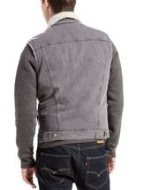 New Levi's Men's Premium Button Up Sherpa Fleece Lined Multi Pocket Denim Vest image 3