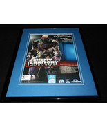 Enemy Territory Quake Wars 2006 Framed 11x14 ORIGINAL Vintage Advertisement - $34.64