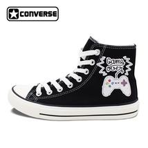 Design Nostalgic Gamepad Canvas Shoes Men Women Sneakers Converse Chuck ... - $99.00