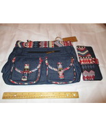 Canyon Sky Denim Purse or Handbag and Wallet Southwest Design - $25.00