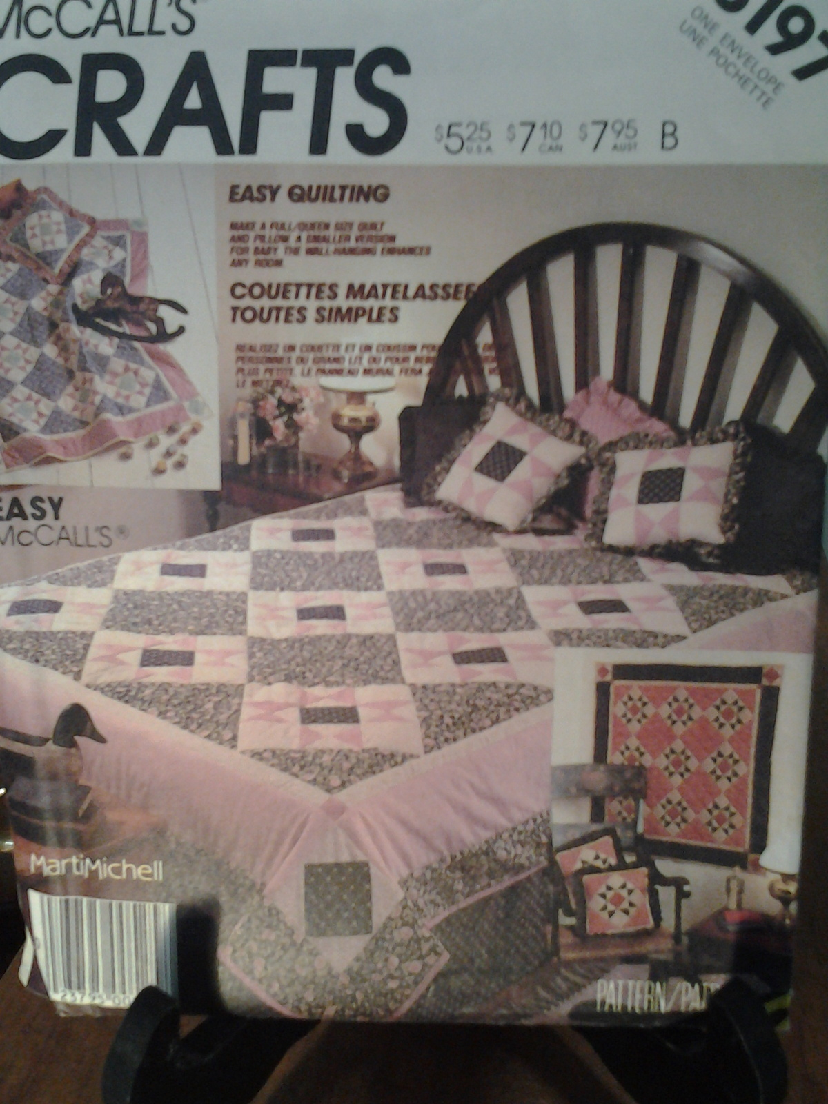 McCall's Craft 3197 Easy Quilting Full/Queen & Baby Quilt, Piilow & Wall Hanging