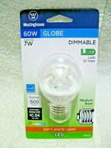 WESTINGHOUSE Dimmable LED 60W Replacement Low Profile Medium Base Globe Bulb!!!  - $12.95