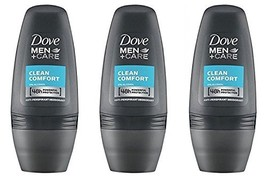 Dove Men Clean Comfort Anti-perspirant Deodorant Roll-on 50ml 1.7 Fluid Ounce. P