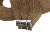Moresoo 20 Inch Tape in Extensions Remy Human Hair Glue in Hair Extensions Human image 6