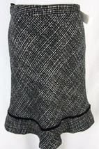 Gap Skirt size 6 Black Tweed Knee A Line Modest No Slit - $24.97