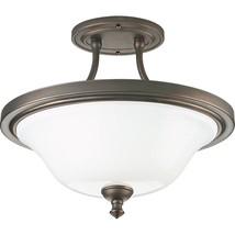 Semi-Flush Venetian Bronze Finish Progress Victorian Ceiling Lighting P3... - $85.94