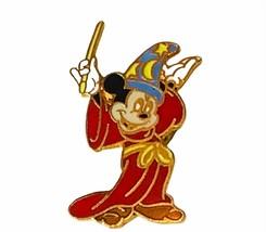 Walt Disney World pin button pinback souvenir Mickey Mouse fantasia vtg wizard - $14.45