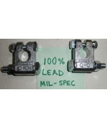 PAIR Battery Terminal Clamps Military Spec MS75004-1 MS75004-2 Made in USA - $25.50