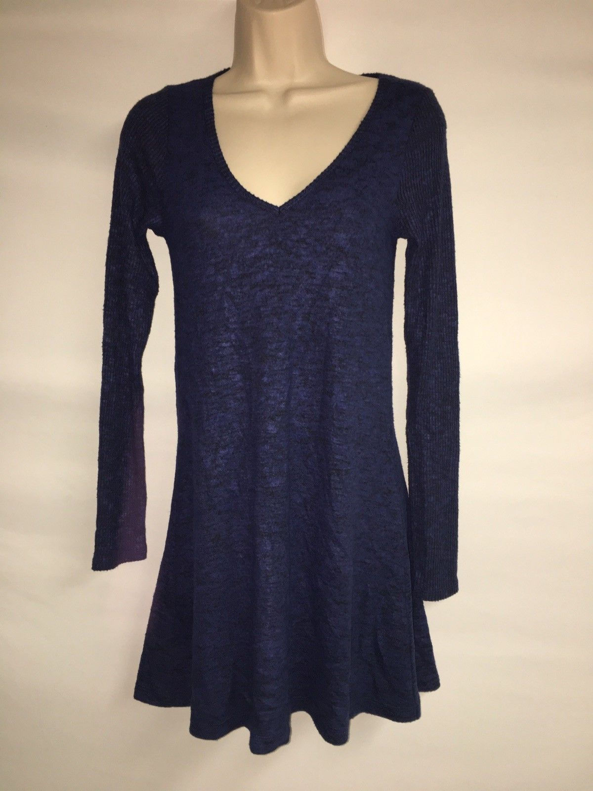 Express Dress Blue Multi Womens XS Long Sleeve NWT $59.9