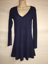 Express Dress Blue Multi Womens XS Long Sleeve NWT $59.9 image 1