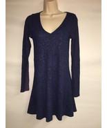 Express Dress Blue Multi Womens XS Long Sleeve NWT $59.9 - $38.70