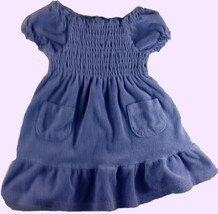 Place size 18 month purple terry cloth type dress with gathers at the bo... - $6.50