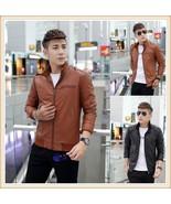 Leather Jacket Men Fashion Outwear For Men 2018 Chaqueta Hombre Cuero Mo... - $36.00