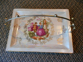 Old Vintage Victorian Couple Platter Tray Plate Dining Japan w detachabl... - $24.99
