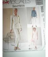 Crop Pants Tops Belt Pattern Uncut McCall's 3503 Misses Size 4 6 8 10 - $6.92