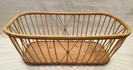 Large Vintage Wicker Basket Wicker Crib Wicker Blanket Box Shabby Chic R... - £59.69 GBP