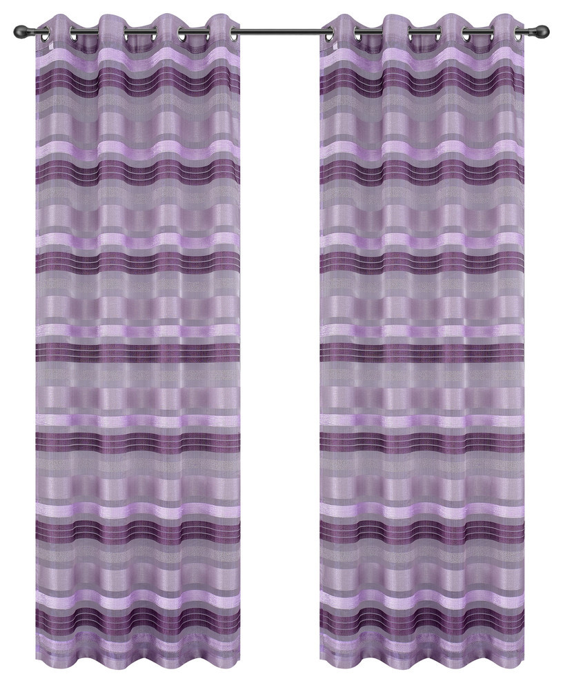 Becca Drapery Curtain Panels with Grommets image 4