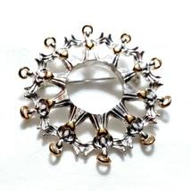 R23 Avon Angel Wreath Brooch Pin Silver Gold heart halo  - $14.55