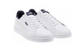 Puma Smash Perf C, Men's Sneakers, White/Navy, Sz 8 - $35.63