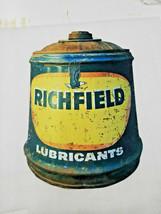 "20"" BIG richfield gas oil station company can drum logo USA Steel metal ... - $74.25"