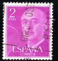 1955 Spain Postage Stamp - Definitive Issue -General Franco - Scott # 830 - $2.99
