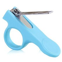 Baby Infant Toddler Nail Care Nail Scissors Prevent Scratch Teal