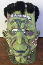 Halloween FRANKENSTEIN MASK Thick Latex w Furry Hair AWESOME! 2002 One Size - £8.48 GBP