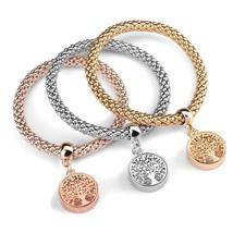 Charm Bracelet, 3PCS Corn Chain Stretch Rope Bracelet Set Bangle Jewelry - $37.68