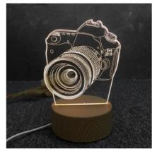 3D LED Lamp Creative Wood grain Night Lights Novelty Illusion Night Illusion 4 - $12.40