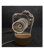 3D LED Lamp Creative Wood grain Night Lights Novelty Illusion Night Illu... - £9.01 GBP