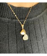 18k Gold Heart Necklace With Chain Al Dahabiya BHS - $268.79