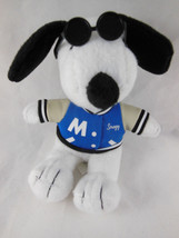 SNOOPY dogwith Letter sweater blue & sunglasses METLIFE PEANUTS PLUSH TO... - $4.94