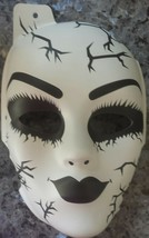 Porcelain Broken Doll Replica Halloween Scary Haunted Freaky Gothic Half Mask - $2.60