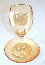 Judaica Kiddush Cup Glass Goblet Saucer Shabbat Clear Gold image 3