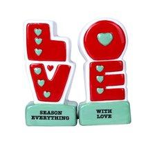 L.O.V.E Season Everything with Love Ceramic Magnetic Salt and Pepper Sha... - $12.86