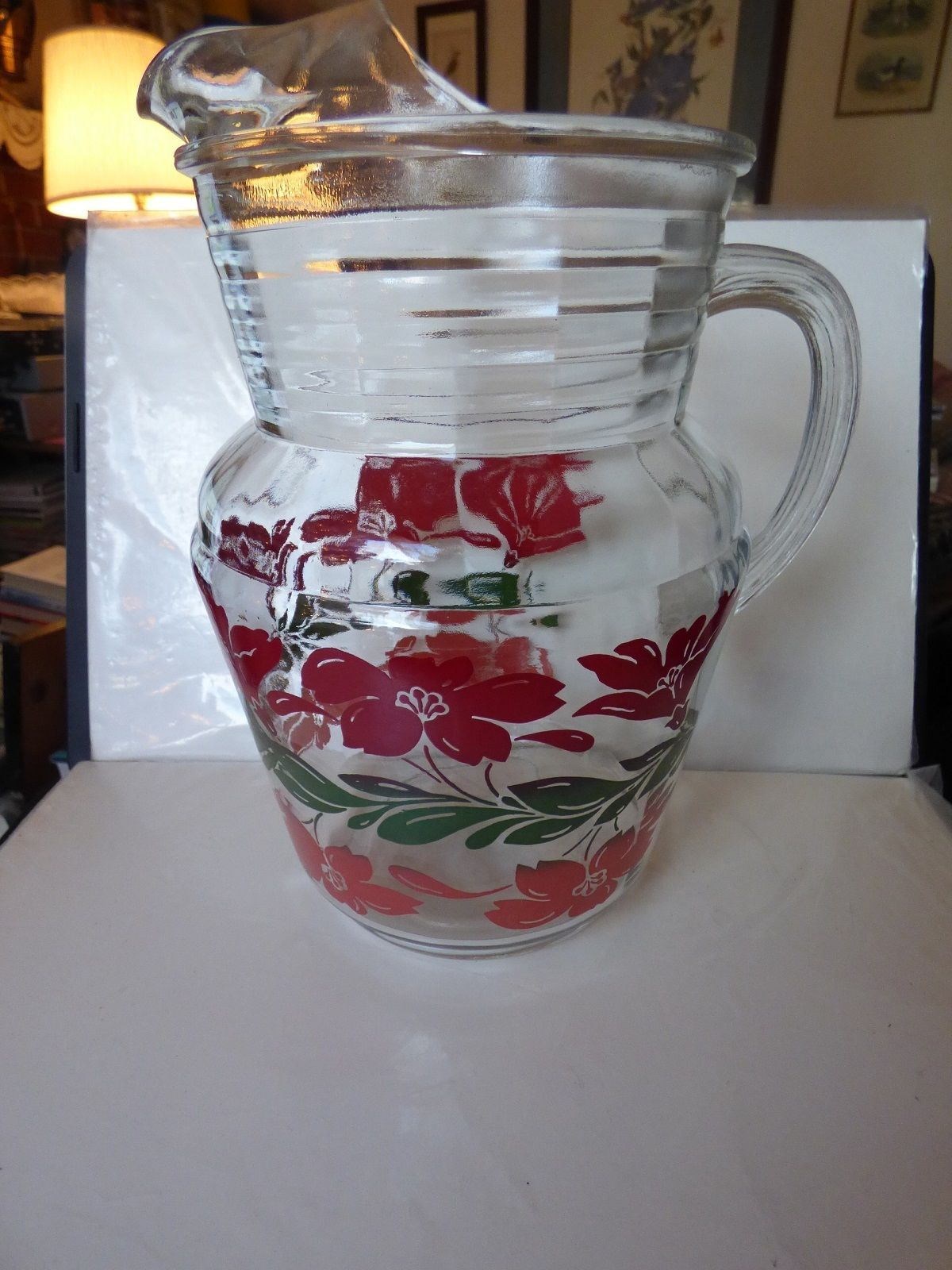 Vintage 1950s Large Ice Lip Pitcher & 6 and 13 similar items