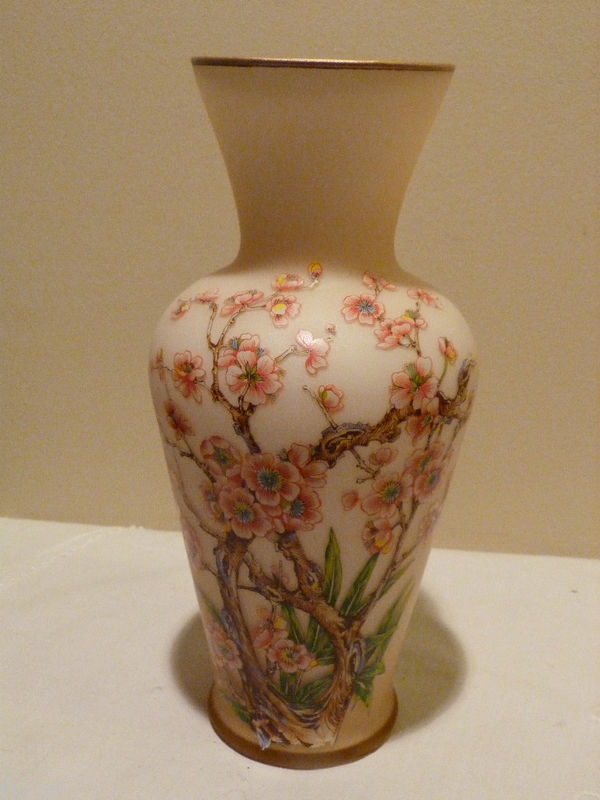 Ardalt Vase Frosted Art Glass Made in Italy