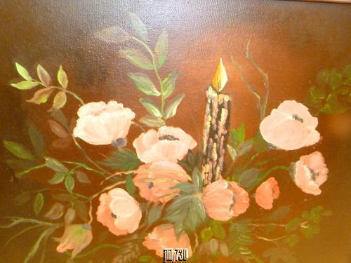 Beautiful Oil Painting of Floral Bouquet by North Carolina Artist L. Lovelace