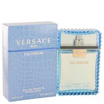 Versace Man 3.4 oz Eau Fraiche Eau De Toilette Spray (Blue) image 2