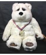 Halbert Special Olympics Bear Lou Rankin Dakin Gold Medal Hero White Ted... - $99.00