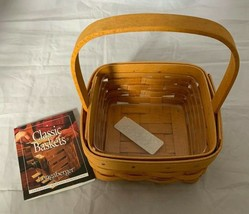 2001 Longaberger Tarragon Booking Basket Incentive 11830 with plastic protector - $18.69