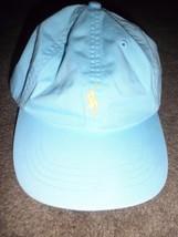 Polo Ralph Lauren Baseball Cap Hat Adjustable Strap  used light Blue - $23.76