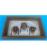 Korean Traditional Masks in Wooden Shadow Box Paek Jong, Bune, Yangban  - $19.85
