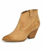 NWOT Frye Reina Soft Leather Ankle Bootie Sand Size  Western - $89.79
