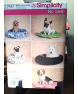 Simplicity Pattern 2297 Dogs Beds in Two Sizes No Sew, New Uncut Factory... - $6.99