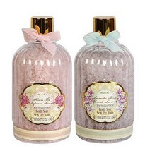 2 Bottles Floral Bath Salts, Lavender and Flowe... - $9.99