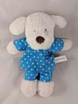 "Beverly Hills Teddy Bear Co White Dog Plush in Pajamas 10.5"" Stuffed Ani... - $16.95"