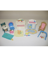 Fisher Price Loving Family 1999 Lights & Sound Newborn Nursery Baby's Be... - $34.99