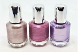 "Lot of 3 Mini Nail Polish Metallic Purple Pink & Copper Quick Shipping 1 3/4""H - $3.99"
